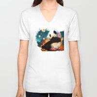 pandas V-neck T-shirts featuring pandas dream by ururuty