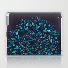 Blue Leaves Mandala Laptop & iPad Skin