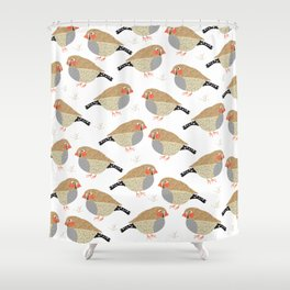 The zebra finches Shower Curtain
