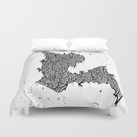 constellations Duvet Covers featuring Constellations by Mason Misener