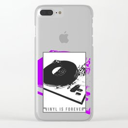 Vinyl is forever print Clear iPhone Case