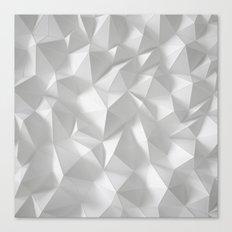 White polygonal landscape Canvas Print