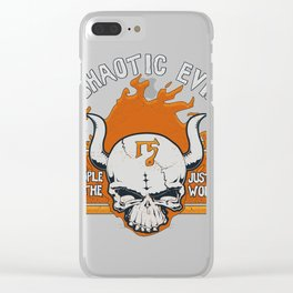 D&d tee  chaotic evi Clear iPhone Case