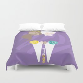 Teenage Endometriosis Awareness - Commissioned Work Duvet Cover