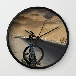 Mountain Biking down from Khardung La Wall Clock