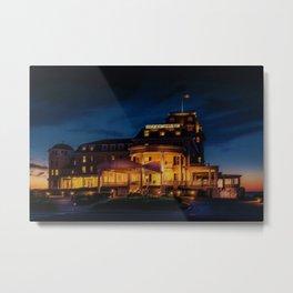 Ocean House (Twilight) Watch Hill, Rhode Island Landscape Painting by Jeanpaul Ferro Metal Print