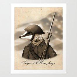 Sergeant Humphreys Art Print