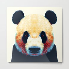 Panda - Colorful Animals Metal Print