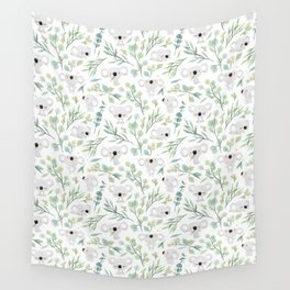 Koala and Eucalyptus Pattern Wall Tapestry