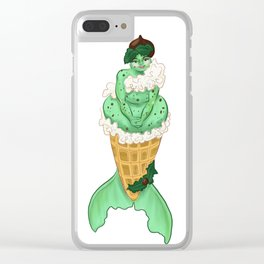 Ice Cream Mermaids: Mint Chocolate Chip Clear iPhone Case