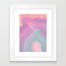 Agate Summer Texture Framed Art Print