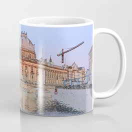 Berlin Spree Bode Museum and Alexander tower Coffee Mug