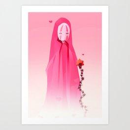 Kaonashi-Valentines Art Print