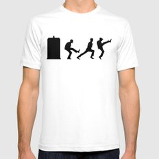 The Tardis of Silly Walks SMALL Mens Fitted Tee White