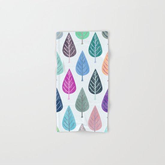 Watercolor Forest Pattern III Hand & Bath Towel
