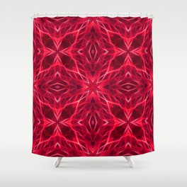 Abstract Geometric Light Factual Bright Red Shower Curtain
