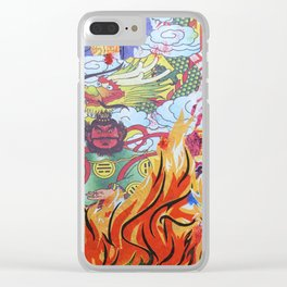 Burnin' Paper Full Canvas Clear iPhone Case