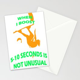When I Boost 5-10 Seconds Is Not Unusual Neon Orange and Green Stationery Cards
