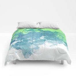 Watercolor Splash Abstract Comforters