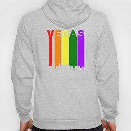 Las Vegas Gay Pride Rainbow Cityscape Hoody