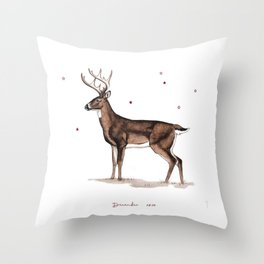 Christmas Deer | White-tailed Deer | DEAU Throw Pillow