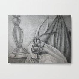 Lamp, Hand, and Antler Metal Print