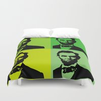 lincoln Duvet Covers featuring Lincoln by Liam Schultz