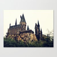 hogwarts Canvas Prints featuring Hogwarts by Thomas Wright Illustration