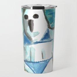 bikini ghost Travel Mug