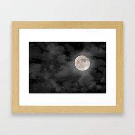 Cloudy Moonlit Night Framed Art Print