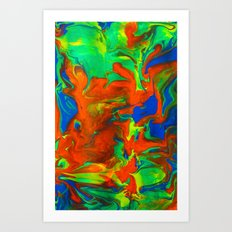 Gravity Painting 14 Art Print