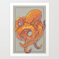 Squidy Art Print