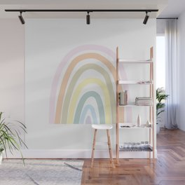 my own pastel rainbow Wall Mural