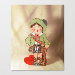 My Valentine Come Under My Plaid Canvas Print