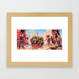 Summer Girls 7.0 Framed Art Print