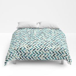 Natural Blue Pattern Comforters