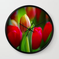 easter Wall Clocks featuring Easter by Herzensdinge