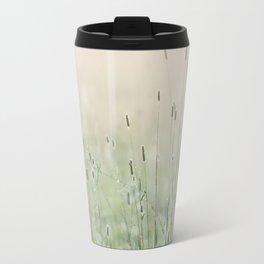 Idyllic Grass Field in the Morning Sun Travel Mug