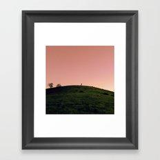 Alone in Pink Framed Art Print