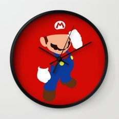 The world famous plumber (Mario) Wall Clock