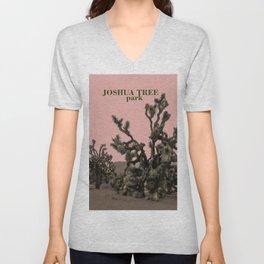 pink joshua tree Unisex V-Neck
