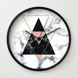 Geo glam marble Wall Clock