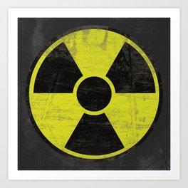 Grunge Radioactive Sign Art Print