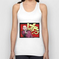 picard Tank Tops featuring Wtf Picard by Slightly Absurd