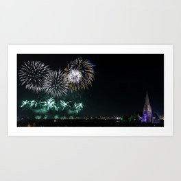 Blackheath Fireworks Art Print