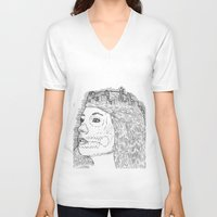 cityscape V-neck T-shirts featuring Cityscape by Justin Gurulé