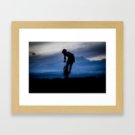 Night rider. Framed Art Print