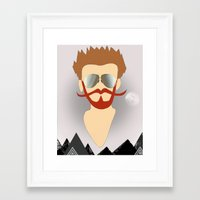 the dude Framed Art Prints featuring Dude by DM Davis