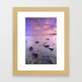 """Pink Sunset. Mediterranean sea."" Framed Art Print"