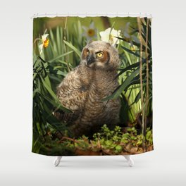 The budding botanist Shower Curtain